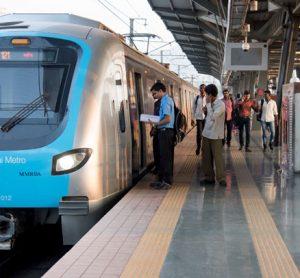 Metro station Mumbai, India