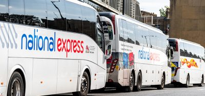 national express buses lined up