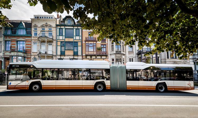 orange Solaris bus