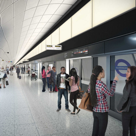 Crossrail prepares to install platform screen doors on Elizabeth line