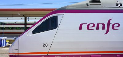 renfe train in Toledo, Spain