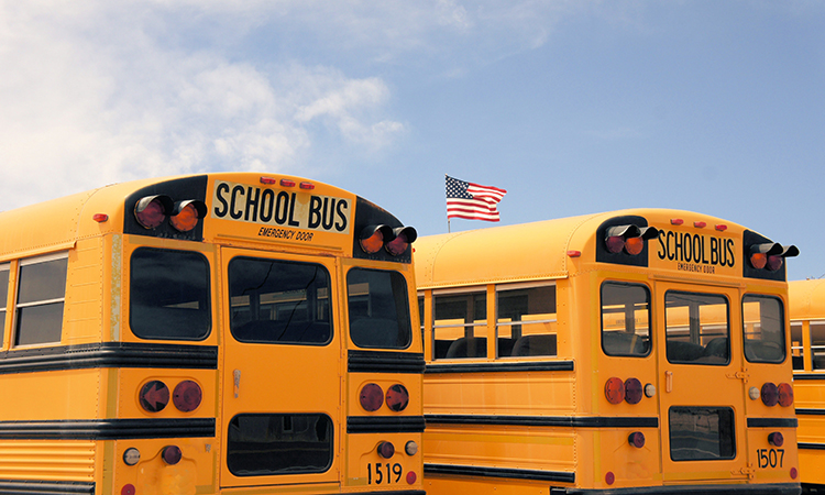 US and Canadian school buses