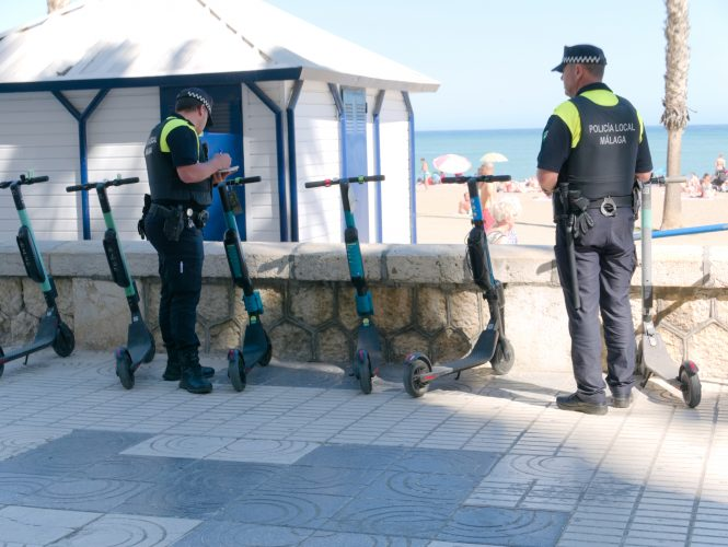 bad e-scooter parking Malaga