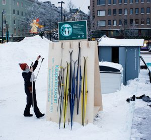 ski sharing pick up and drop off point