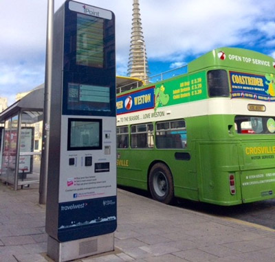 Interactive information and smart ticketing iPoint for Weston-super-Mare