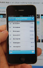 Centro's Network West Midlands smartphone application