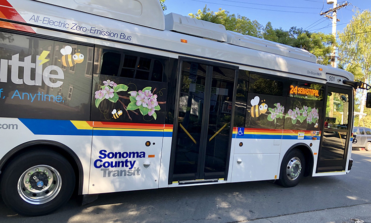 Sonoma County electric buses