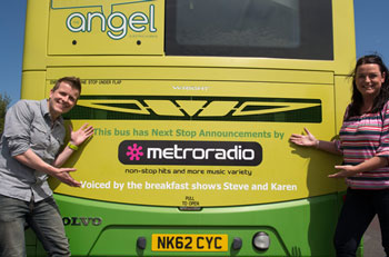 Pictured Metro Radio Breakfast Show DJ's Steve & Karen