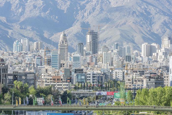 Tehran Iran Skyline
