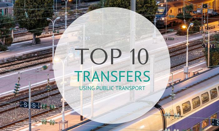 Top 10 Transfers Using Public Transport