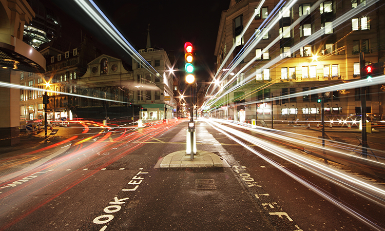 traffic lights in central london