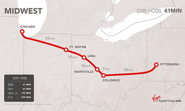 virgin hyperloop midwest map