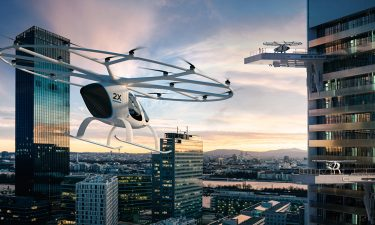 volocopter air taxi above city