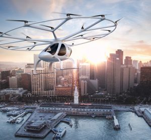 volocopter above city